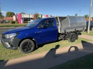 2015 Toyota Hilux GUN122R Workmate Blue 5 Speed Manual Cab Chassis