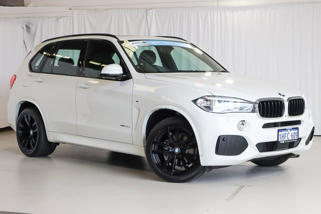 Used BMW X5 F15 xDrive30d Wangara, 2017 BMW X5 F15 xDrive30d White 8 Speed Sports Automatic Wagon