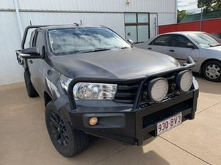 2015 Toyota Hilux GUN125R Workmate (4x4) Grey 6 Speed Manual X Cab Cab Chassis.