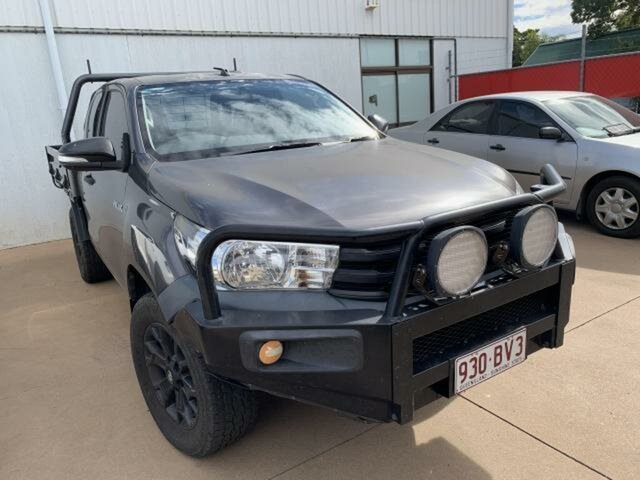Used Toyota Hilux GUN125R Workmate (4x4) Emerald, 2015 Toyota Hilux GUN125R Workmate (4x4) Grey 6 Speed Manual X Cab Cab Chassis