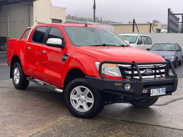 Used Ford Ranger PX XLT Double Cab Moonah, 2015 Ford Ranger PX XLT Double Cab Red 6 Speed Sports Automatic Utility