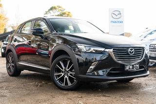 2015 Mazda CX-3 DK2W7A Akari SKYACTIV-Drive Jet Black 6 Speed Sports Automatic Wagon.