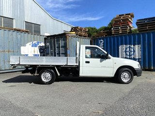 2002 Holden Rodeo TF MY02 LX 4x2 White 5 Speed Manual Cab Chassis.