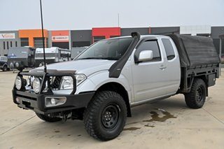 2012 Nissan Navara D40 S6 MY12 ST-X King Cab Silver 6 Speed Manual Cab Chassis