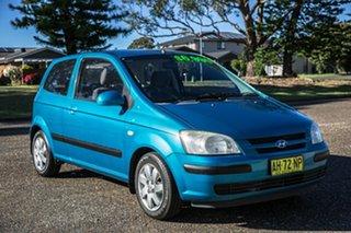 2004 Hyundai Getz TB MY04 GL Blue 4 Speed Automatic Hatchback.