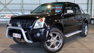 2007 Holden Rodeo RA MY07 LTZ Crew Cab 4x2 Black 4 Speed Automatic Utility.