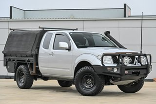 2012 Nissan Navara D40 S6 MY12 ST-X King Cab Silver 6 Speed Manual Cab Chassis.