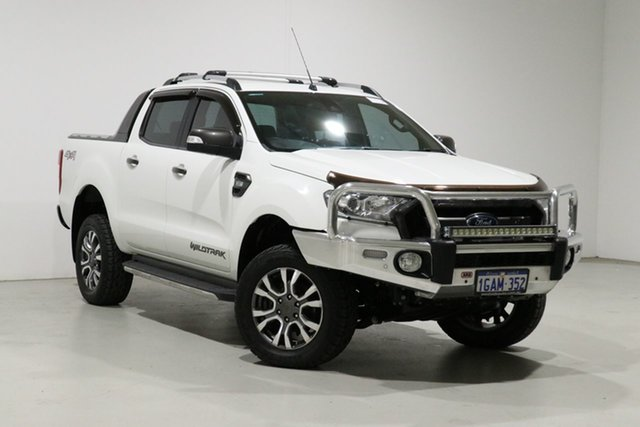 Used Ford Ranger PX MkII Wildtrak 3.2 (4x4) Bentley, 2016 Ford Ranger PX MkII Wildtrak 3.2 (4x4) White 6 Speed Automatic Dual Cab Pick-up