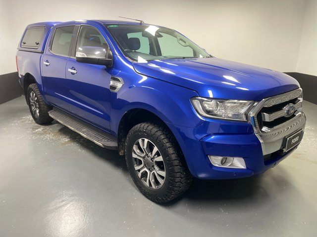 Used Ford Ranger PX MkII XLT Double Cab Hamilton, 2016 Ford Ranger PX MkII XLT Double Cab Blue 6 Speed Sports Automatic Utility