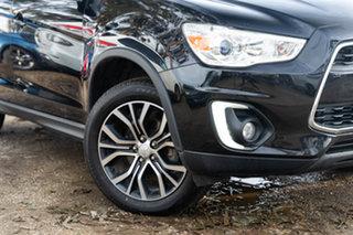 2015 Mitsubishi ASX XB MY15 LS 2WD Black 6 Speed Constant Variable Wagon.