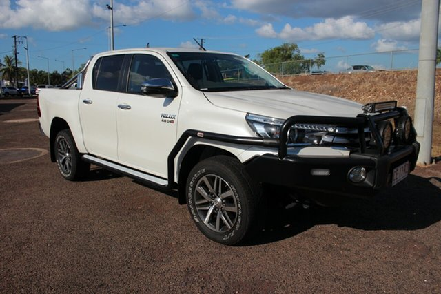Pre-Owned Toyota Hilux GUN126R SR5 Double Cab Darwin, 2018 Toyota Hilux GUN126R SR5 Double Cab Glacier White 6 Speed Sports Automatic Utility