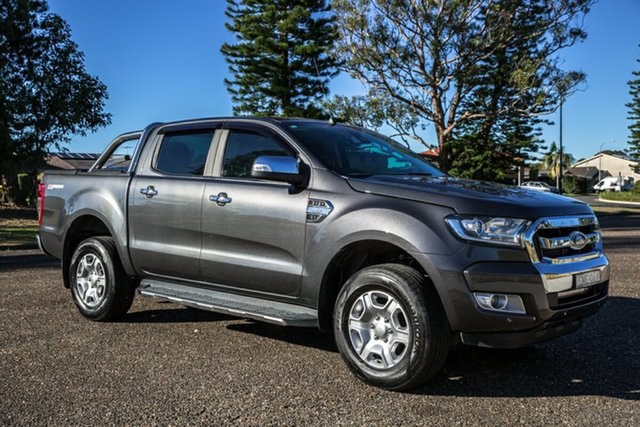 Used Ford Ranger PX MkII 2018.00MY XLT Double Cab 4x2 Hi-Rider Port Macquarie, 2018 Ford Ranger PX MkII 2018.00MY XLT Double Cab 4x2 Hi-Rider Magnetic 6 Speed Sports Automatic