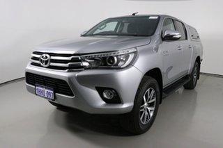 2017 Toyota Hilux GUN126R MY17 SR5 (4x4) Silver 6 Speed Automatic Dual Cab Utility.