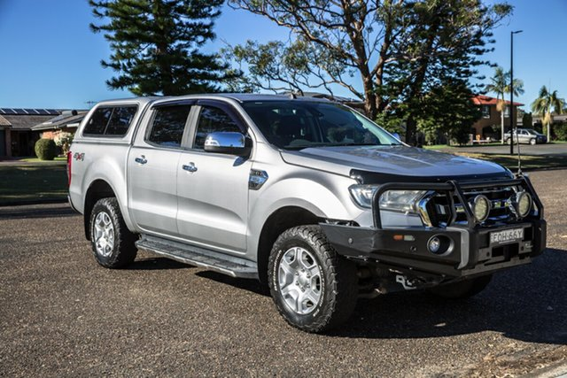 Used Ford Ranger PX MkII 2018.00MY XLT Double Cab Port Macquarie, 2017 Ford Ranger PX MkII 2018.00MY XLT Double Cab Silver 6 Speed Sports Automatic Utility