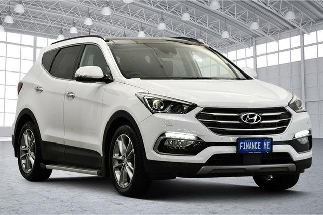 Used Hyundai Santa Fe DM3 MY16 Highlander Victoria Park, 2016 Hyundai Santa Fe DM3 MY16 Highlander White 6 Speed Sports Automatic Wagon