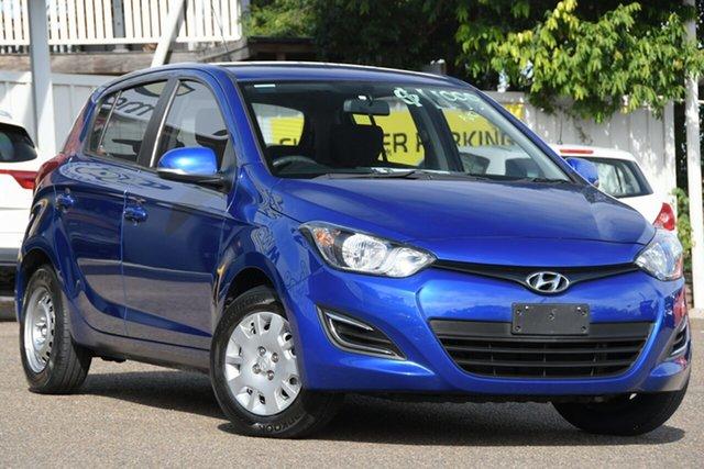 Used Hyundai i20 PB MY14 Active Moorooka, 2014 Hyundai i20 PB MY14 Active Blue 4 Speed Automatic Hatchback