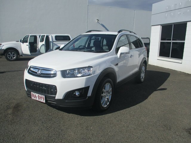 Used Holden Captiva CG MY15 7 LS Active (FWD) Bundaberg, 2015 Holden Captiva CG MY15 7 LS Active (FWD) White 6 Speed Automatic Wagon