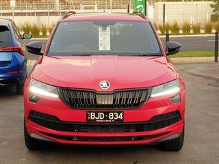 2020 Skoda Karoq NU MY20.5 140TSI DSG AWD Sportline Red 7 Speed Sports Automatic Dual Clutch Wagon.