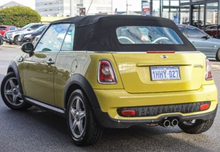 2010 Mini Cabrio R57 MY09 Cooper S Steptronic Yellow 6 Speed Sports Automatic Convertible.