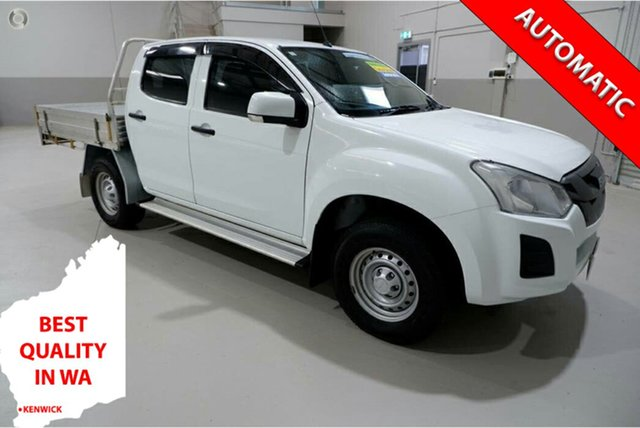 Used Isuzu D-MAX MY17 SX Crew Cab 4x2 High Ride Kenwick, 2017 Isuzu D-MAX MY17 SX Crew Cab 4x2 High Ride White 6 Speed Sports Automatic Cab Chassis