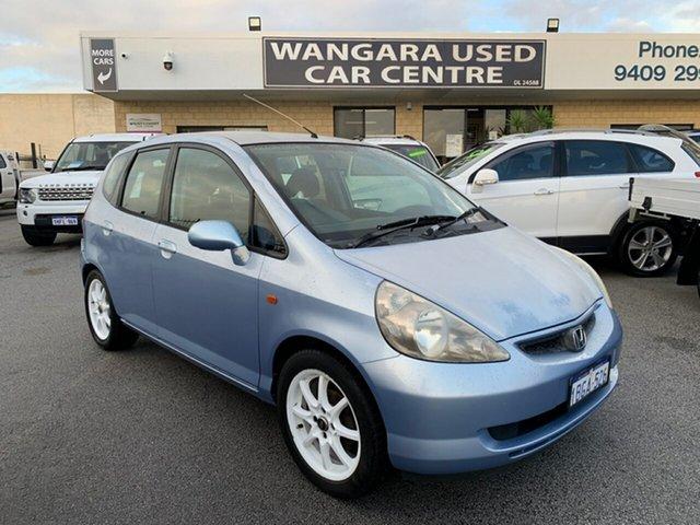 Used Honda Jazz VTi Wangara, 2002 Honda Jazz VTi Blue 5 Speed Manual Hatchback