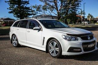 2014 Holden Commodore VF MY15 SV6 Sportwagon White 6 Speed Sports Automatic Wagon.