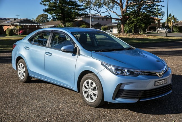 Used Toyota Corolla ZRE172R Ascent S-CVT Port Macquarie, 2017 Toyota Corolla ZRE172R Ascent S-CVT Sky Blue 7 Speed Constant Variable Sedan