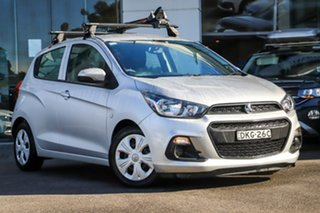 2016 Holden Spark MP MY16 LS Silver, Chrome 1 Speed Constant Variable Hatchback.