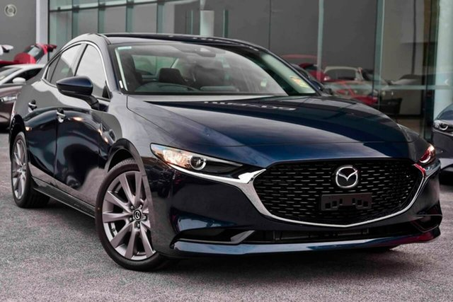 New Mazda 3 BP2S7A G20 SKYACTIV-Drive Touring Waitara, 2021 Mazda 3 BP2S7A G20 SKYACTIV-Drive Touring Blue 6 Speed Sports Automatic Sedan