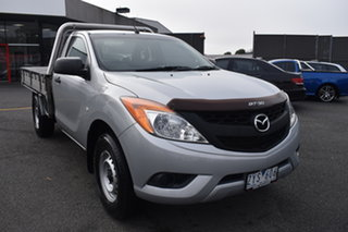 2013 Mazda BT-50 UP0YD1 XT 4x2 Billet Silver 6 Speed Manual Cab Chassis.