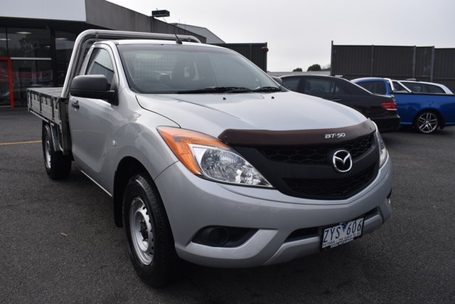 Used Mazda BT-50 UP0YD1 XT 4x2 Wantirna South, 2013 Mazda BT-50 UP0YD1 XT 4x2 Billet Silver 6 Speed Manual Cab Chassis