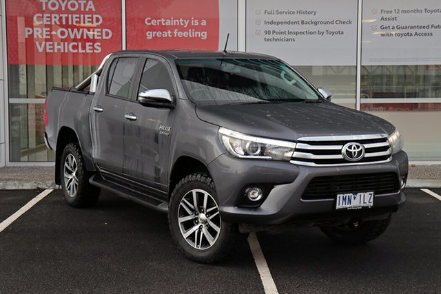 Pre-Owned Toyota Hilux GUN126R SR5 Double Cab South Morang, 2017 Toyota Hilux GUN126R SR5 Double Cab Graphite 6 Speed Manual Utility
