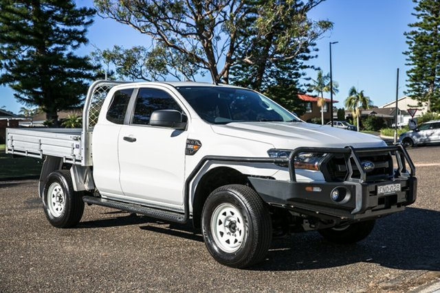 Used Ford Ranger PX MkII XL Port Macquarie, 2015 Ford Ranger PX MkII XL Cool White 6 Speed Manual Cab Chassis