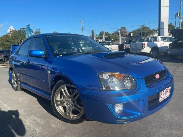 Used Subaru Impreza S MY04 WRX Club Spec Evo 7 AWD Gympie, 2004 Subaru Impreza S MY04 WRX Club Spec Evo 7 AWD Blue 5 Speed Manual Sedan