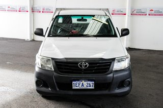 2013 Toyota Hilux TGN16R MY12 Workmate Glacier White 5 Speed Manual Cab Chassis.