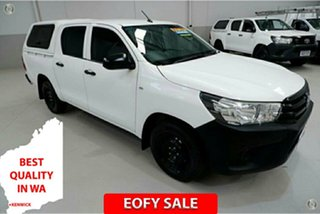 2015 Toyota Hilux TGN121R Workmate Double Cab 4x2 White 6 Speed Sports Automatic Utility.