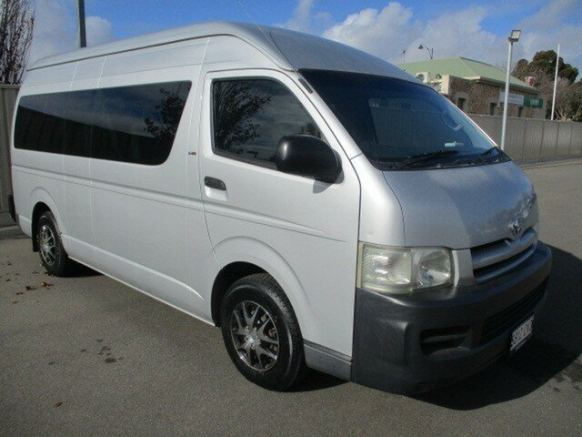 Used Toyota HiAce KDH222R Commuter High Roof Super LWB Murray Bridge, 2005 Toyota HiAce KDH222R Commuter High Roof Super LWB Silver 5 Speed Manual Bus