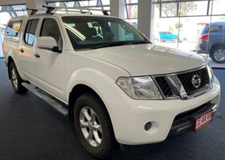 2012 Nissan Navara D40 S6 MY12 ST White 5 Speed Sports Automatic Utility.