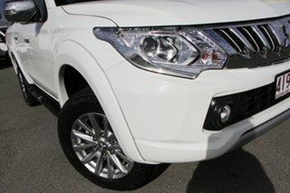 2015 Mitsubishi Triton MQ MY16 GLS Double Cab White Solid 5 Speed Sports Automatic Utility.