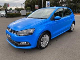 2015 Volkswagen Polo 6R MY15 66TSI DSG Trendline Blue 7 Speed Sports Automatic Dual Clutch Hatchback.