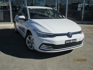 2021 Volkswagen Golf Mark 8 MY21 110TSI Pure White 8 Speed Sports Automatic Hatchback.