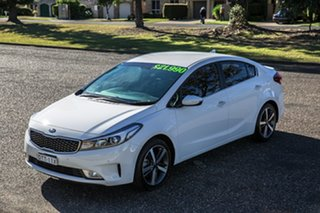 2017 Kia Cerato YD MY18 Sport+ Clear White 6 Speed Sports Automatic Sedan