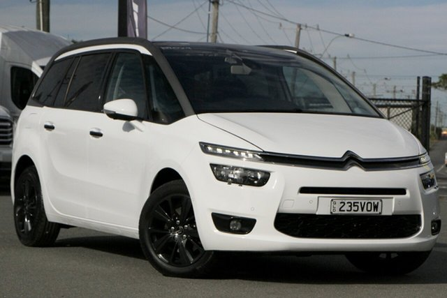 Used Citroen Grand C4 Picasso B7 Exclusive Rocklea, 2014 Citroen Grand C4 Picasso B7 Exclusive Blanc Banouise White/grey 6 Speed Sports Automatic Wagon