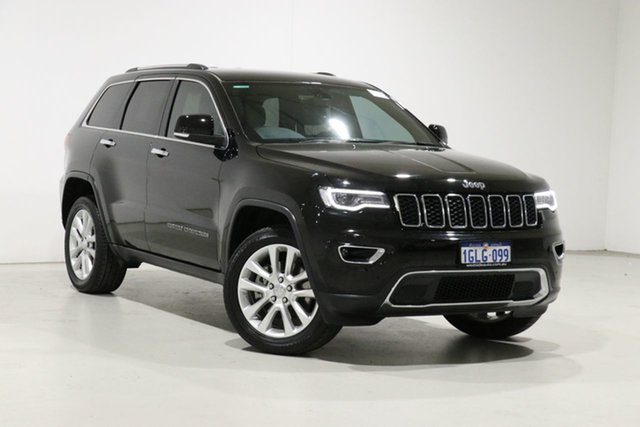 Used Jeep Grand Cherokee WK MY18 Limited (4x4) Bentley, 2017 Jeep Grand Cherokee WK MY18 Limited (4x4) Black 8 Speed Automatic Wagon