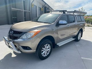 2013 Mazda BT-50 UP0YF1 GT Gold 6 Speed Sports Automatic Utility.