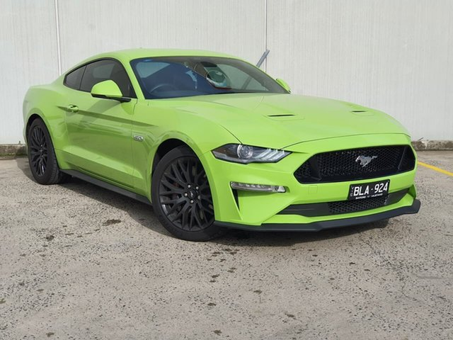 Used Ford Mustang FN 2020MY GT Oakleigh, 2020 Ford Mustang FN 2020MY GT Green 10 Speed Sports Automatic Fastback