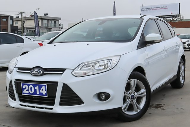 Used Ford Focus LW MkII Trend PwrShift Coburg North, 2014 Ford Focus LW MkII Trend PwrShift White 6 Speed Sports Automatic Dual Clutch Hatchback