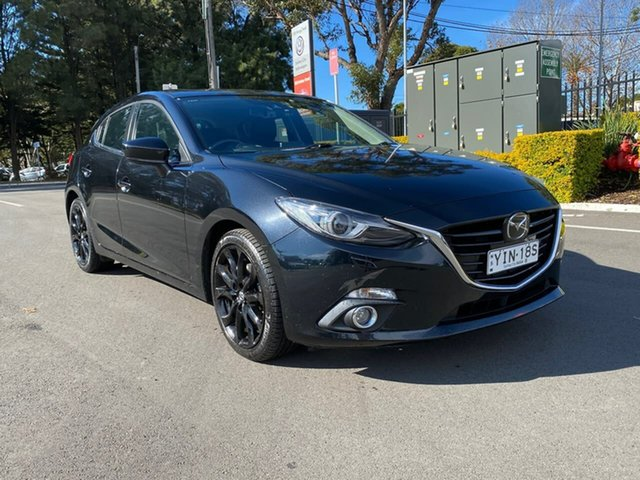 Used Mazda 3 BM5438 SP25 SKYACTIV-Drive Astina Botany, 2016 Mazda 3 BM5438 SP25 SKYACTIV-Drive Astina Black 6 Speed Sports Automatic Hatchback