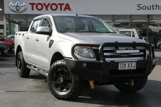 2014 Ford Ranger PX XLS Double Cab Silver 6 Speed Manual Utility.