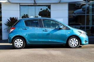 2012 Toyota Yaris NCP130R YR Blue 4 Speed Automatic Hatchback.